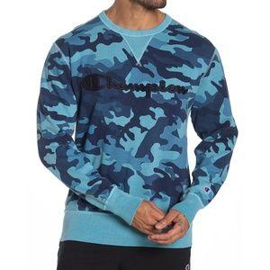 Champion Camo Fleece Crew Sweatshirt
